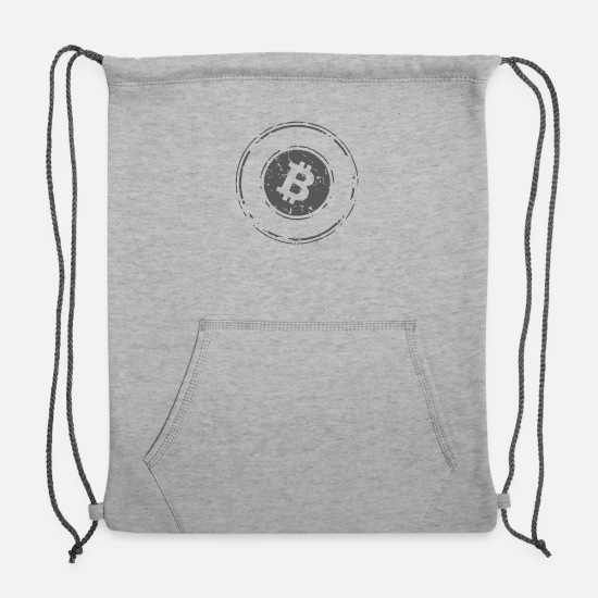 Logo Bags & Backpacks - Bitcoin Logo - Sweatshirt Drawstring Bag heather gray