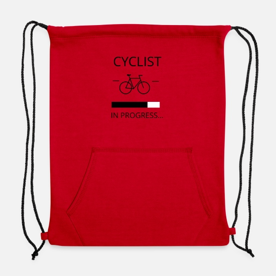 Cyclist Bags & Backpacks - CYCLIST IN PROGRESS - Sweatshirt Drawstring Bag red