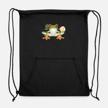 Frog red eyed tree frog shirt - Sweatshirt Drawstring Bag