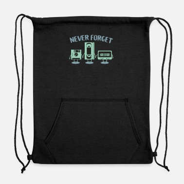 Vhs Tapes Floppy Disk VHS Tape - Sweatshirt Drawstring Bag