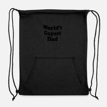 Hipster Worlds gayest dad 01 - Sweatshirt Drawstring Bag