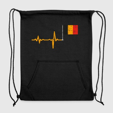 Heartbeat Belgium flag gift - Sweatshirt Cinch Bag