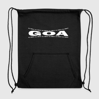 LOVE TECHNO GESCHENK goa pbm GOA bpm goa - Sweatshirt Cinch Bag