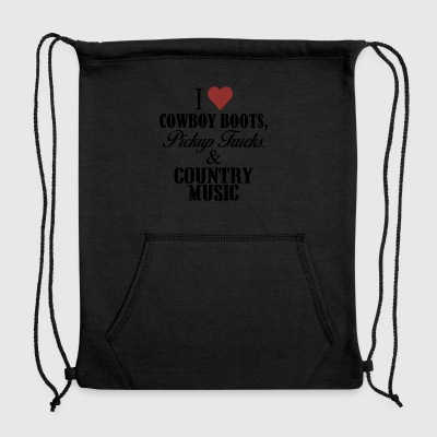 I heart cowboy boots - Sweatshirt Cinch Bag