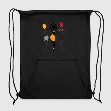 African dancers silhouette - Sweatshirt Cinch Bag