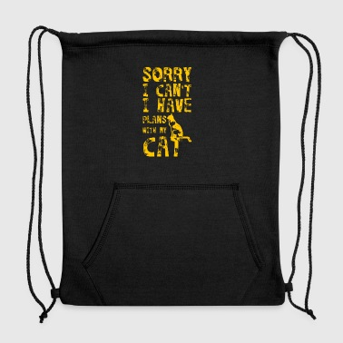 Sorry I Can't I Have Plans With My Cat - Sweatshirt Cinch Bag