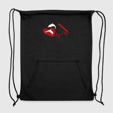 Dolphin Heart Shirt - Sweatshirt Cinch Bag