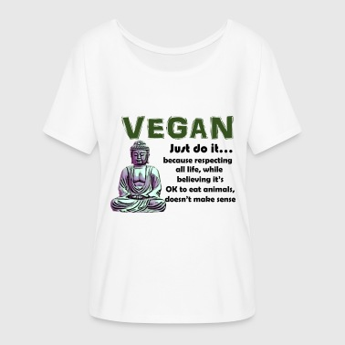 VEGAN JUST DO IT - Women's Flowy T-Shirt