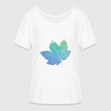 colorfull skeleton Leaf - Women's Flowy T-Shirt