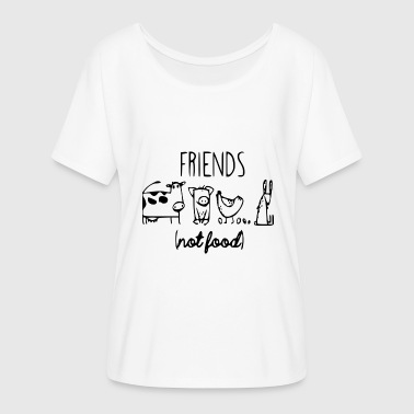 Friends Not Food - Women's Flowy T-Shirt