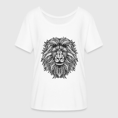 Lion Mandala - Women's Flowy T-Shirt
