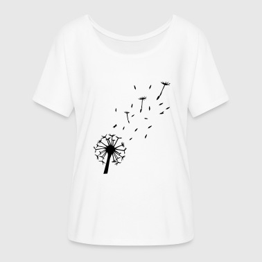 Flying Dandelion - Women's Flowy T-Shirt