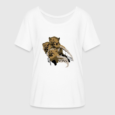 Cheetah Cubs - Women's Flowy T-Shirt