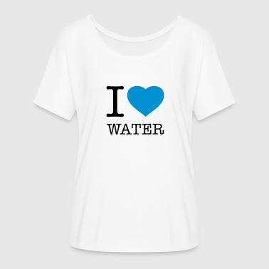 Love Water I LOVE WATER - Women's Flowy T-Shirt