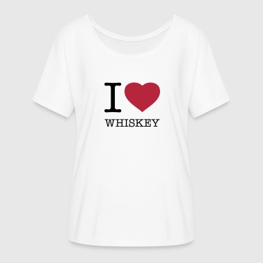 I LOVE WHISKEY - Women's Flowy T-Shirt