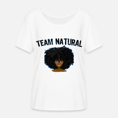 Black Girl Magic Best Selling AFRO TEAM NATURAL HAIR Black Pride - Women's Flowy T-Shirt