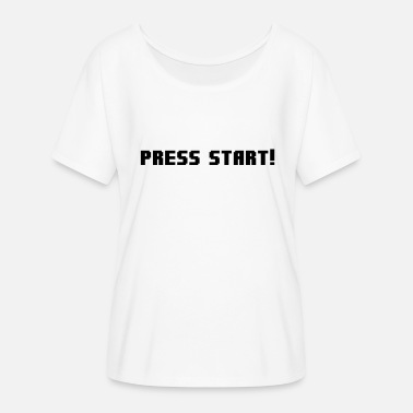 Press Geek Press Start! - Women's Flowy T-Shirt