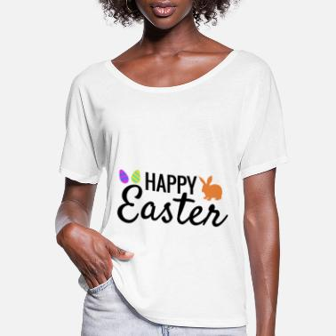 Easter Happy Easter Happy Easter Gift Idea Eggs Rabbit - Women's Flowy T-Shirt