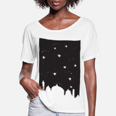At Night City at Night - Women's Flowy T-Shirt