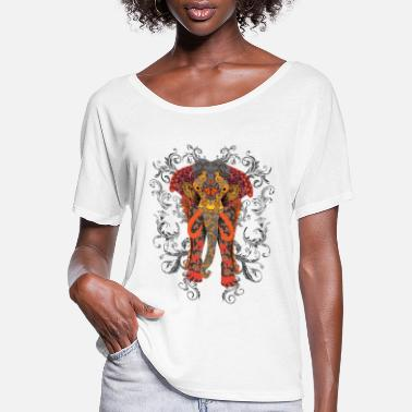 Save Elephant Animal Graphic - Save Animals - Women's Flowy T-Shirt
