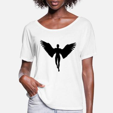 Silhouette angel graphic - Women's Flowy T-Shirt