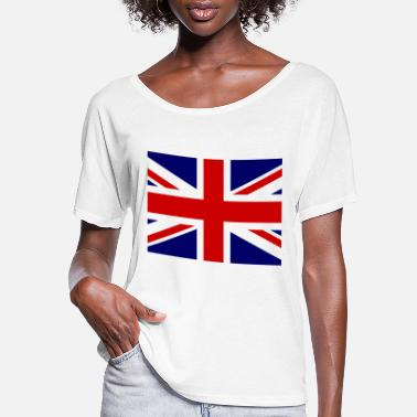 Britain United Kingdom of Great Britain Flag - Women's Flowy T-Shirt