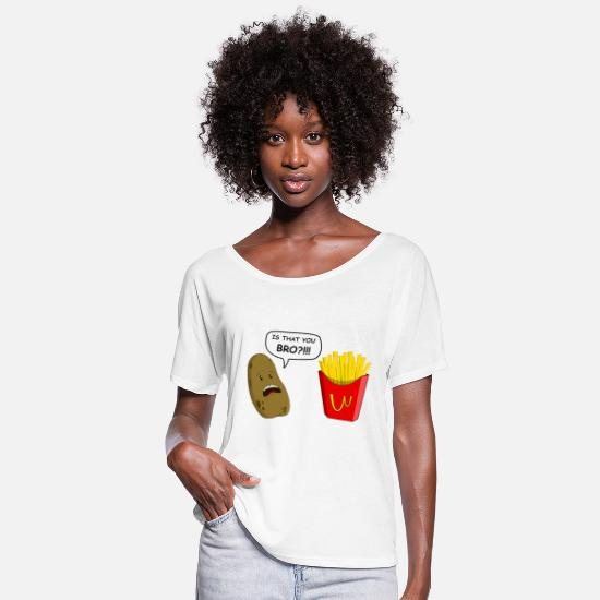 Funny T-Shirts - potato - Women's Flowy T-Shirt white