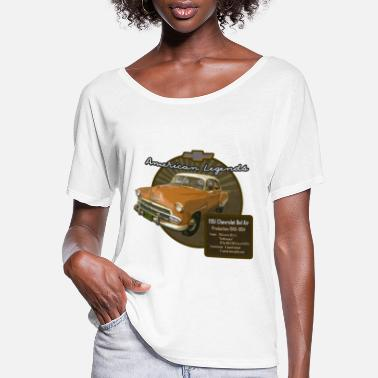 1952 Vintage Auto Bel Air 1951 - Women's Flowy T-Shirt