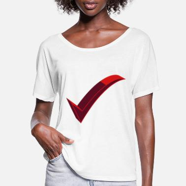 Check checked - Women's Flowy T-Shirt