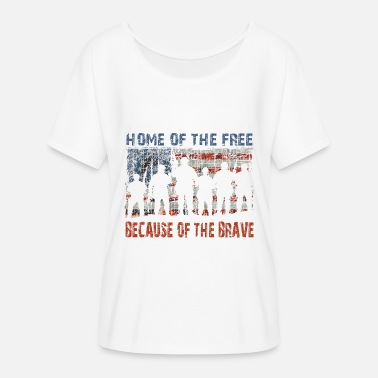 Home of the Free - Women's Flowy T-Shirt