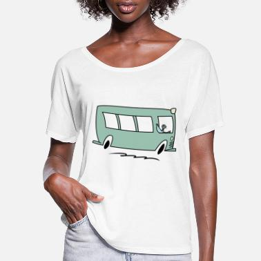 Let pigeon drive the bus - Women's Flowy T-Shirt