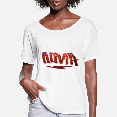 Birth Name Olivia Name Design - Women's Flowy T-Shirt