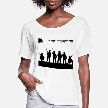 Vehicle army soldier soldat knight world war weltkrieg125 - Women's Flowy T-Shirt