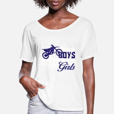 Dirt Bike Girl Girls Dirt Bike Shirt - Women's Flowy T-Shirt