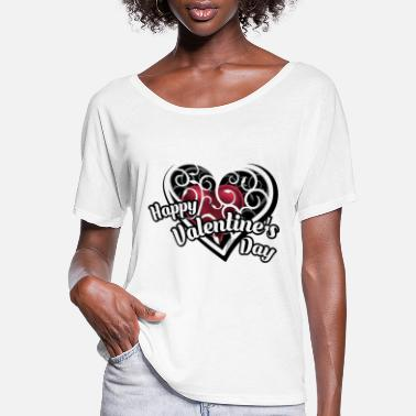 Day Happy Valentines Day Tee - Women's Flowy T-Shirt