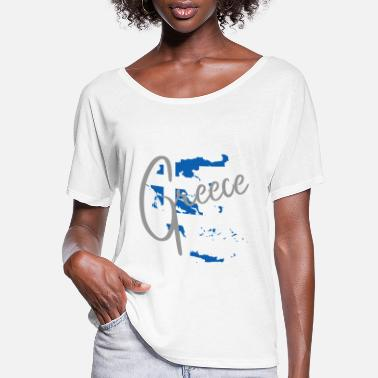 Mediterranean Greece - Mediterranean - Athens - greek - Women's Flowy T-Shirt