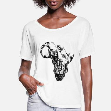 Africa AFRICA MAP - Women's Flowy T-Shirt