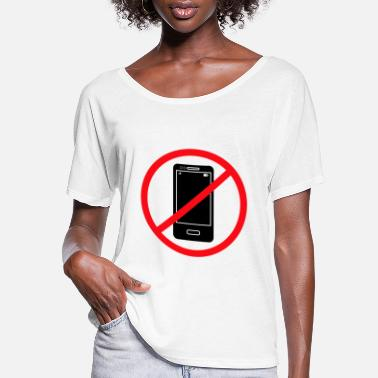 Phone Vector no mobile phones sign - Women's Flowy T-Shirt