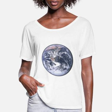 Planet Earth Earth - Planet - The World - Mother Earth - Women's Flowy T-Shirt