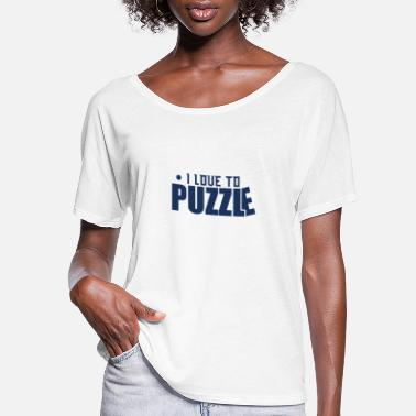 Puzzle Puzzling - Women's Flowy T-Shirt