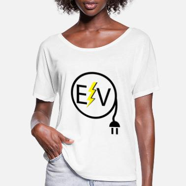 Renewable Electric Vehicle Logo 2 - Women's Flowy T-Shirt