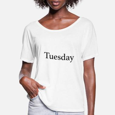 Monday Tuesday - Day of the week - Women's Flowy T-Shirt