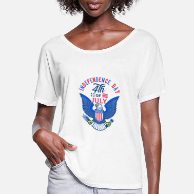 Bird Independence Day 4th of july - Women's Flowy T-Shirt