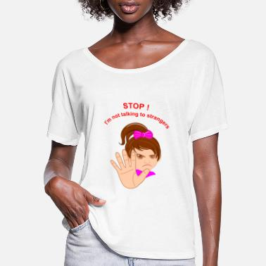 Stop - Child protection girl - Women's Flowy T-Shirt