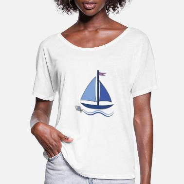 Sailboat sailboat - Women's Flowy T-Shirt