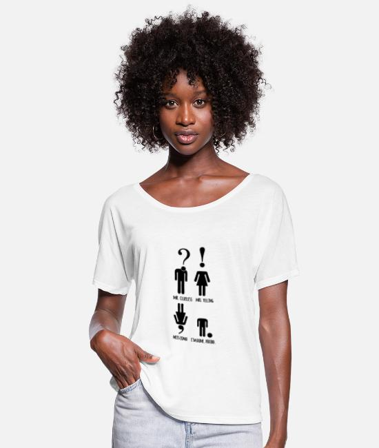 Art T-Shirts - Read Mr and Miss - Women's Flowy T-Shirt white