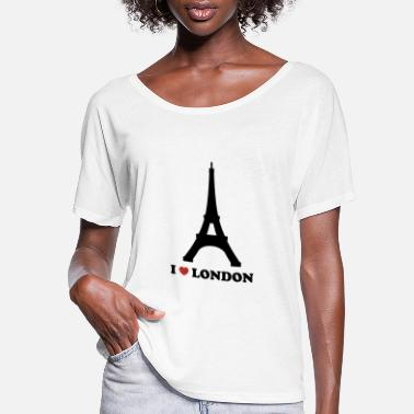 I Love London I Love London (Paris) - Women's Flowy T-Shirt