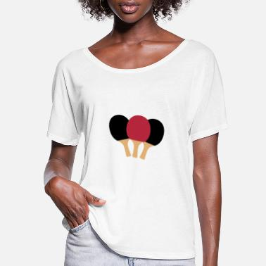 Table Tennis Paddle Table Tennis Paddle - Women's Flowy T-Shirt