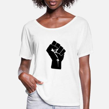 Fist Black lives Matter - Women's Flowy T-Shirt