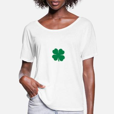 four-leaf clover - Women's Flowy T-Shirt